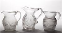 Fine blown three-mold quart pitchers