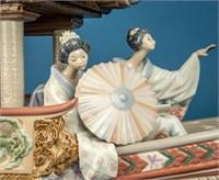 Vintage Lladro Porcelain 1605 Kitakami Boat