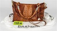 Brahmin Croc Embossed Shoulder Bag / Purse