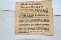#Jug#Whiskey,#Rare, R.F.Rakes, 1 gallon, Pre 1916