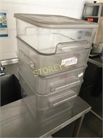 4 Food Containers - 12qrt