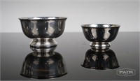 Silverplate Cups, Dish and Salt and Pepper Shakers