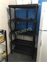 4 Tier Plastic Stock Rack- 36 x 18 x 71