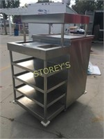 HD All S/S Cart w/ Cup Dispensers, Drawers, Etc.