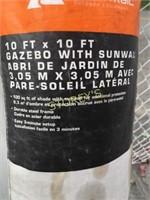 Gazebo w/ Sun Wall - 10' x 10'