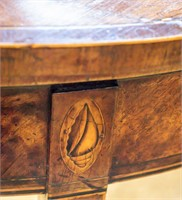 18th Century George III Demilune Gaming Table