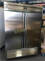 As New 2dr S/S Freezer - 54 x 33 x 83