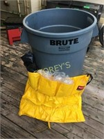 Brute Waste Pail, Dolly, Utility Holder