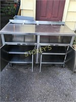 All S/S Cabinet on Wheels - 57 x 30 x 36