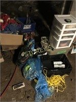 Paint Storage Unit, Brackets, Etc.