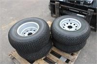 (4) ATV Turf Tires on Rims