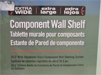 New Sonax Extra Wide Component Wall Shelf