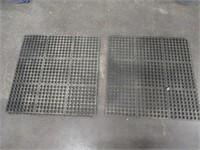 (2) 3'x3' Anti-Fatigue Floor Mats