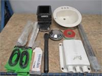 Lot of Various Items, Bathroom Sink, Computer