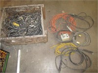 Box of Various Welder Parts, Cables,