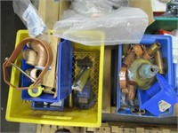 Skid of Assorted Plumbing Parts, Drains,