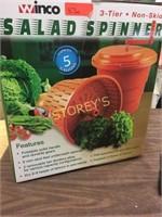 New 20L Winco Orange Salad Spinner