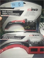 New Winco 2 Stage Knife Sharpener