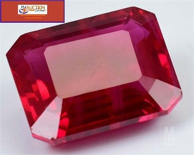 6.46CT NATURAL MOZAMBIQUE RED RUBY EMERALD CUT Otros