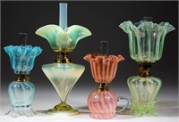 Many fine opalescent miniature lamps from the Lynch collection