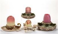 English ceramic base fairy lamps - Scott collection