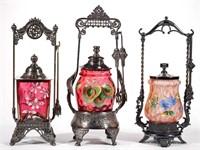Fine Victorian pickle casters - Teague collection