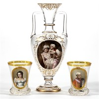 Selection of Bohemian glass