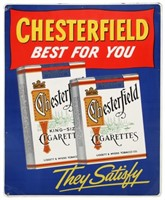 Chesterfield Cigarettes Embossed Sign