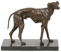 Bronze Whippet Sculpture