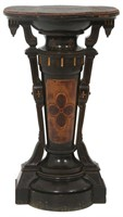 Renaissance Revival Ebonized Pedestal
