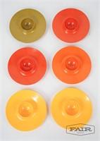 Set of 6 Multicolor Danish Candleholders