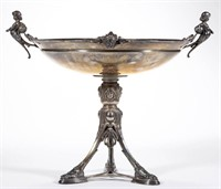 Gorham figural sterling centerpiece, from the estate collection of Buryl and Nelwyn Kay, McLean, VA