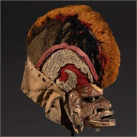 Rare Malagan carved and painted ceremonial mask (c.1900)