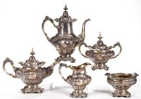 Five-piece Reed & Barton sterling tea and coffee service, from the estate collection of Buryl and Nelwyn Kay, McLean, VA