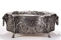 French / German sterling jewelry casket, from the estate collection of Buryl and Nelwyn Kay, McLean, VA