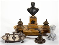 Collection of inkwells and ink stands - Harrigan collection