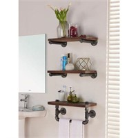 "ARMEN LIVING 20"" 3 LAYER SHELF WOOD"