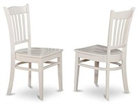 EAST WEST FURNITURE DINING CHAIR WITH WOOD SEAT