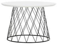 SAFAVIEH ROPER WHITE AND BLACK END TABLE
