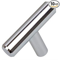 10 PIECES GLIDERITE HARDWARE CHROME SOLID T-BAR