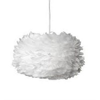 UMAGE WHITE CORD SET AND CEILING FEATHER LIGHT