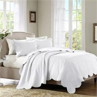 MADISON PARK 3-PIECE COVERLET SET, KING/CAL KING