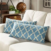 "2-PIECE THROW PILLOW, 9""X22"""