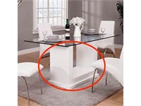 FURNITURE OF AMERICA EVA TABLE (TABLE BASE ONLY)