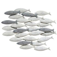 STRATTON HOME SCHOOL OF FISH WALL DÉCOR 2.5'X3'