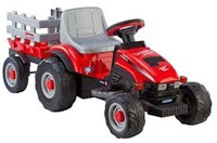 PEG PEREGO LIL RED TRACTOR AND TRAILER