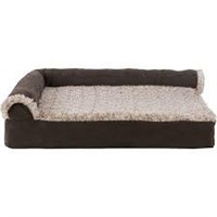 FAUX FUR & SUADE DLX CHAISE ORTHOPEDIC DOG BED