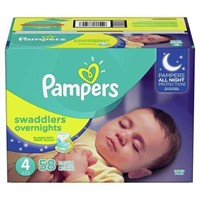 PAMPERS  SIZE 4 BABY DIAPERS, 58 COUNT