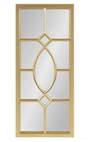 KATE & LAUREL CASSAT RECTANGLE GOLD WALL MIRROR