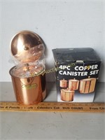 4pc. Copper Canister Set